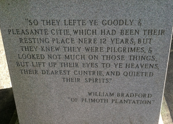William Bradford Monument in Plymouth, MA