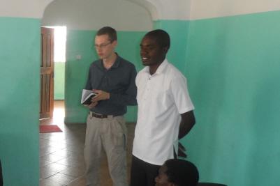Preaching in Zambia, Africa through a Lozi translator