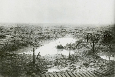 Fields of mud at Passchendaele