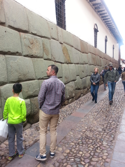 An ancient Inca wall